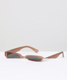Quay Australia Festival Collection Солнцезащитные очки в квадратной коричневой оправе Sofia Richie Strange Love - Черный