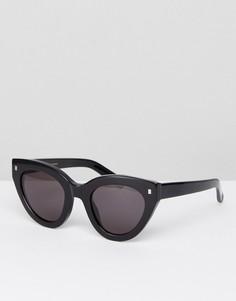 Черные солнцезащитные очки кошачий глаз Monokel Eyewear Neko - Черный