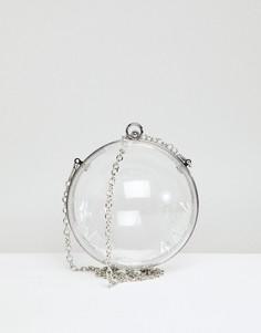 Прозрачная сумка в форме шара с ремешком-цепочкой ASOS - Очистить