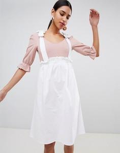 Боди в мелкий горошек Fashion Union - Бежевый