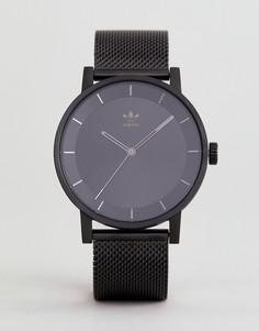 Черные часы с сетчатым ремешком Adidas Z04 - Черный