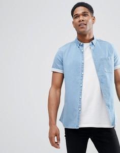 Эластичная джинсовая рубашка ASOS DESIGN - Синий