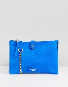 Ярко-синяя замшевая сумка через плечо Dune - Синий