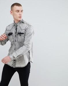 Джинсовая oversize-рубашка ASOS - Черный