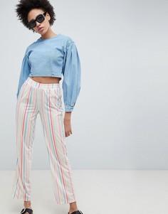 Прямые брюки в полоску ASOS DESIGN - Мульти