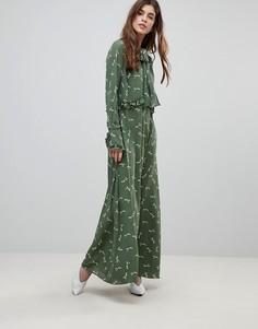 Платье макси с цветочным узором Liquorish - Зеленый