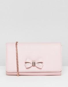 Сумка с ремешком-цепочкой и бантиком Ted Baker - Розовый