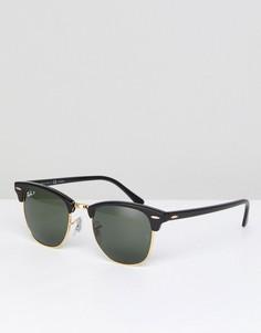 Солнцезащитные очки клабмастер с поляризованными стеклами Ray-Ban 0RB3016 - Черный
