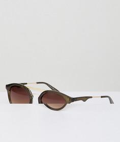 Круглые солнцезащитные очки оливкового цвета AJ Morgan - Зеленый