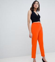 Суженные книзу брюки из крепа ASOS DESIGN Tall - Оранжевый