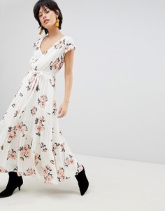 Платье макси с принтом Free People All I Got - Белый