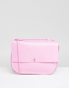 Кожаная сумка-седло с заклепками ASOS - Розовый