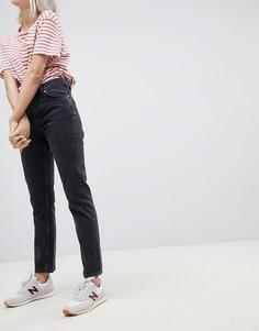 Прямые джинсы Weekday Line - Черный
