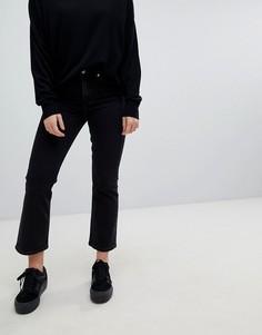 Укороченные джинсы с завышенной талией Weekday - Черный