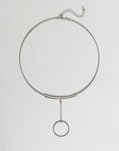 Ожерелье с геометрической подвеской Nylon - Серебряный
