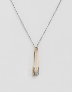 Ожерелье с подвеской в виде английской булавки Steve Madden - Мульти