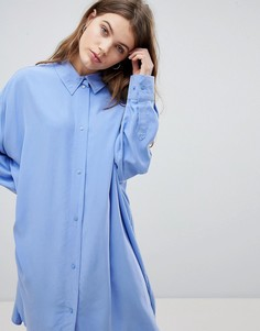 Платье-рубашка Weekday - Синий