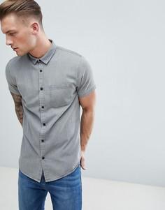 Серая джинсовая рубашка New Look - Серый