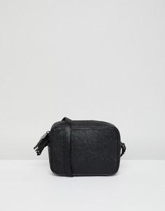 Фактурная сумка через плечо Sisley - Черный