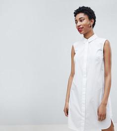 Хлопковое платье-рубашка ASOS DESIGN Tall - Белый