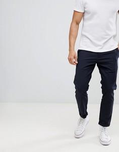 Укороченные строгие брюки Only & Sons - Темно-синий