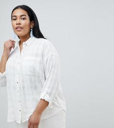 Рубашка с вышивкой на плечах River Island Plus - Белый