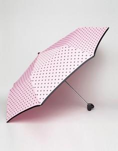 Розовый зонт с черными сердечками Bombay Duck Bisous - Розовый