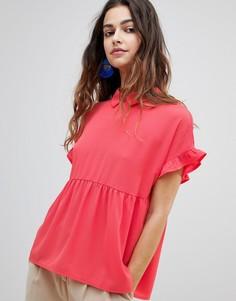 Блузка с оборками Y.A.S Lulli - Красный