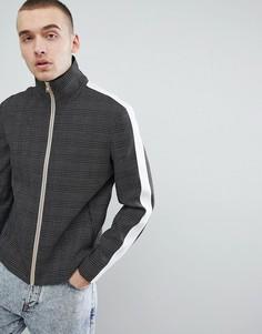 Облегающая строгая спортивная куртка с полосками ASOS DESIGN - Черный