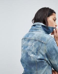 Джинсовая куртка с логотипом Vivienne Westwood Anglomania - Синий