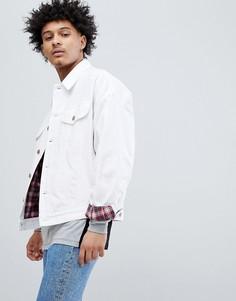 Белая джинсовая оверсайз-куртка ASOS DESIGN - Белый