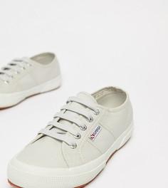 Серые парусиновые кроссовки Superga 2750 - Серый