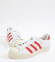 Бело-красные кроссовки adidas Originals Superstar Og - Черный