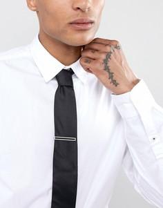 Серебристый зажим для галстука BOSS - Серебряный
