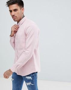 Хлопковая рубашка на пуговицах с длинными рукавами Just Junkies - Розовый