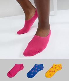 3 пары спортивных носков HS by Happy Socks - Мульти