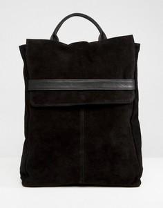 Замшевый рюкзак с ремешком ASOS DESIGN - Черный