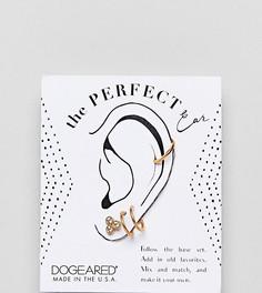 Набор сережек из позолоченного серебра Dogeared Perfect Ear - Золотой