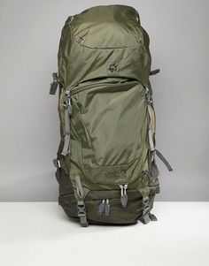 Рюкзак цвета хаки Jack Wolfskin Highland Trail XT 50 - Зеленый