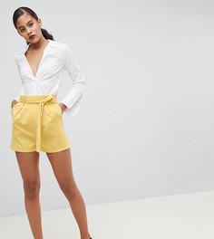 Шорты с завышенной талией Fashion Union Tall - Желтый