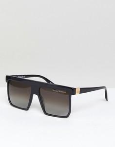 Квадратные солнцезащитные oversize-очки Vivienne Westwood - Черный