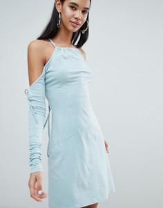 Облегающее платье ограниченной серии с бахромой Weekday - Кремовый