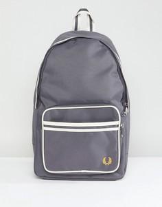 Серый рюкзак с двойным кантом Fred Perry - Серый