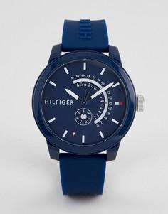 Темно-синие часы с силиконовым ремешком Tommy Hilfiger 1791482 - 44 мм -  Темно- 01bc0c08ce187