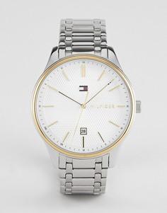 Серебристые наручные часы Tommy Hilfiger 1791491 - 44 мм - Серебряный