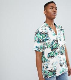 Рубашка с короткими рукавами и цветочным принтом Reclaimed Vintage Inspired - Синий