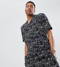 Рубашка с воротником в виде лацканов и принтом Reclaimed Vintage Inspired - Черный