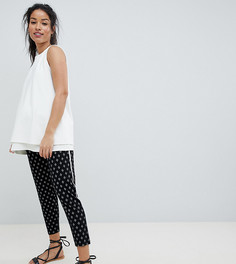 Зауженные брюки с ацтекским принтом ASOS DESIGN Maternity - Черный