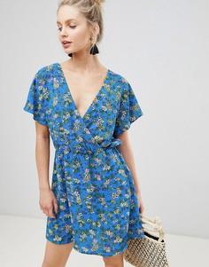 Чайное платье с цветочным принтом JDY - Мульти