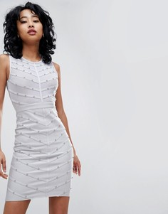 Бандажное платье с заклепками Love & Other Things - Серый